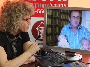 """דן גולדברג בשיחת וידאו עם עו""""ד אירית רוזנבלום"""