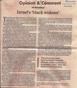 Israel's 'black widows' - print version