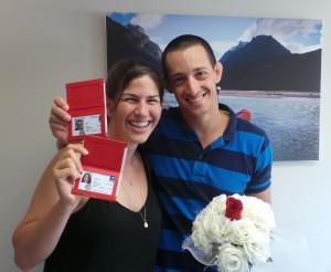 אדם וספיר בחרו להתחתן עם תעודת הזוגיות